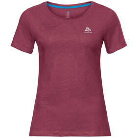 Odlo Core Bl Top Crew Neck S/S Women, rumba red/placed print FW18